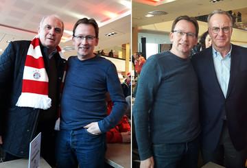 Stefan mit Uli Hoeneß und Karl-Heinz Rummenigge