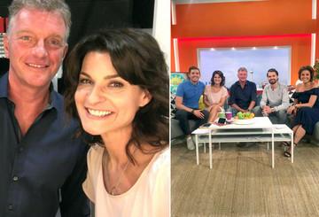 Markus mit Marlene Lufen im SAT.1-Frühstücksfernsehen