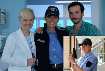 """Gaby als Polizistin bei """"In aller Freundschaft"""""""