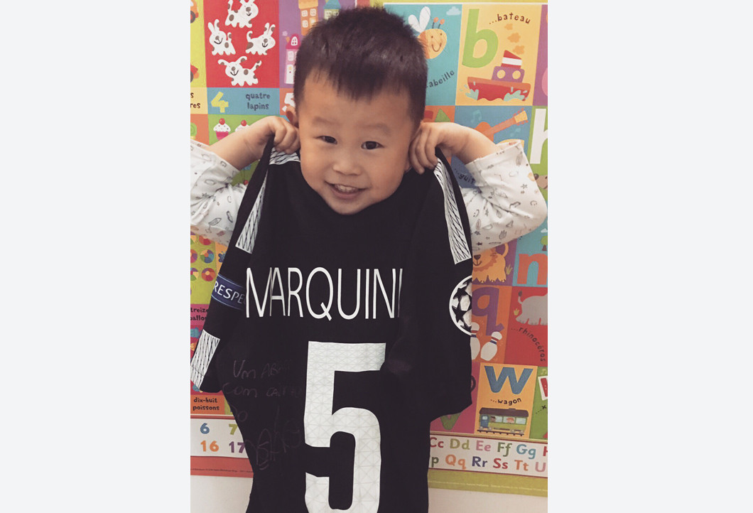 Paris jersey makes kids worldwide happy
