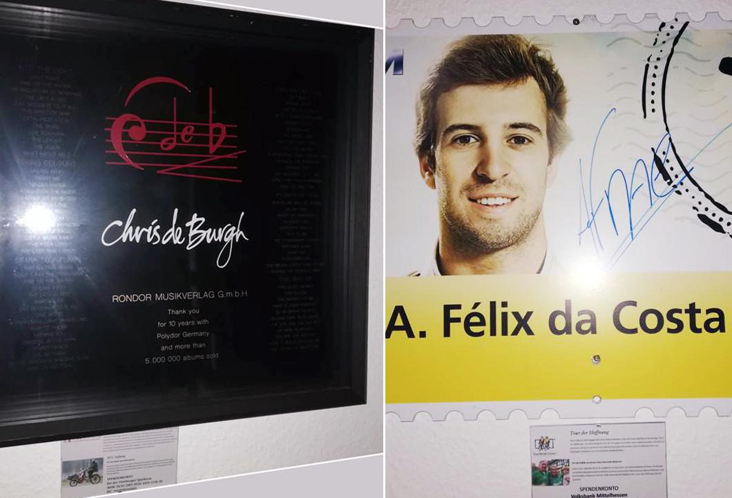 Sammlerstücke von Felix da Costa und Chris de Burgh