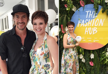 "Simone mit Thomas Hayo beim Gala ""The Fashion Hub"""