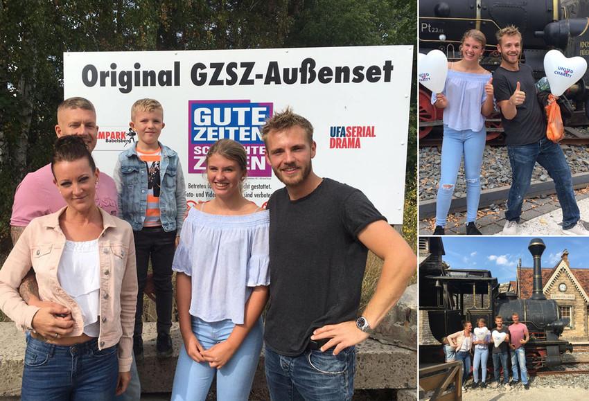 Mit Niklas Osterloh im Filmpark Babelsberg