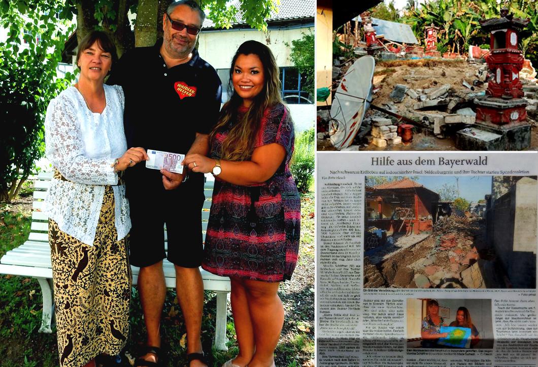 WAIDLER-helfen: Hilfe für die Erdbebenopfer auf Lombok