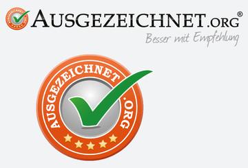 Unsere Bewertungen bei ausgezeichnet.org