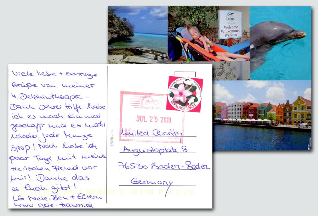 Die Postkarte von Nele und ihrer Familie